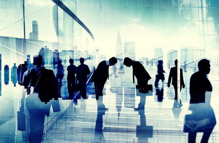 asian ethnicity: Business People Bowing Down Social Grace Agreement Partnership