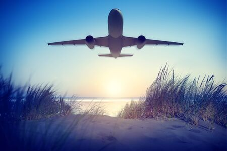 Vliegtuig Reizen Outdoors Concept