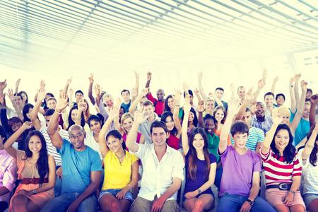 comunidad: Diversidad Equipo Alegre Concepto Comunidad Foto de archivo