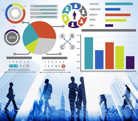 data: Bar Graph Chart Data Information Inforgraphic Report Concept