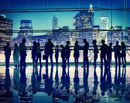 lit: Group of Business People in Back Lit