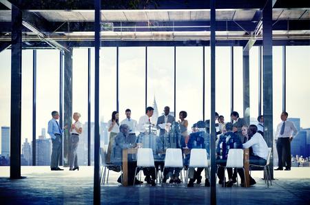 organization: 비즈니스 조직 사람들 작업 공생 회의 개념