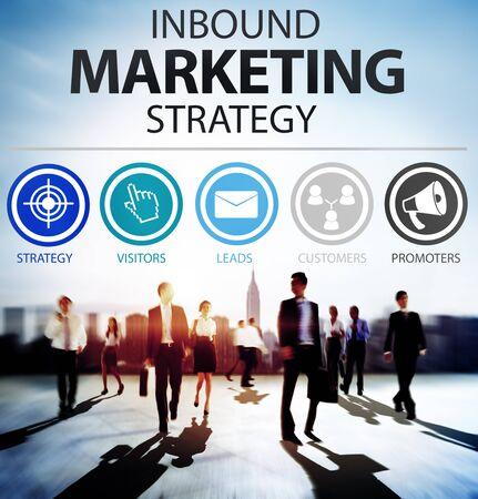 esquema: Estrategia de Marketing Inbound Soluci�n de comercio Concepto