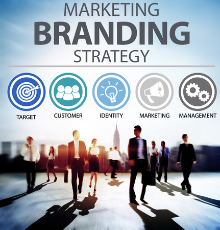 marketing target: Brand Branding Marketing Commercial Name Concept