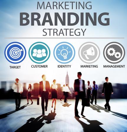 Brand Branding Marketing Obchodní název Concept Reklamní fotografie