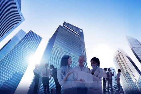 city scape: City Scape Business Team Teamwork Meeting Collaboration Concept