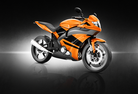 motorcycle: Motorcycle Motorbike Bike Riding Rider Contemporary Orange Concept