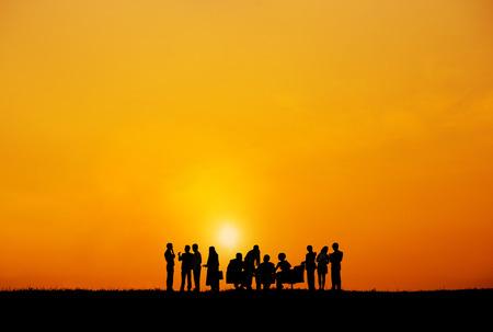 COLABORACION: Colaboración en los Negocios Colega Ocupación Asociación Trabajo en equipo Concepto Foto de archivo
