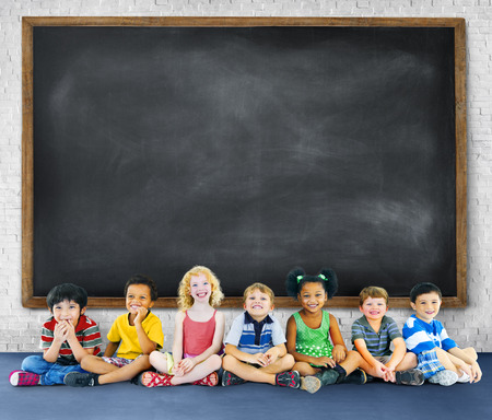 multi age: Children Kids Education Learning Cheerful Concept Stock Photo