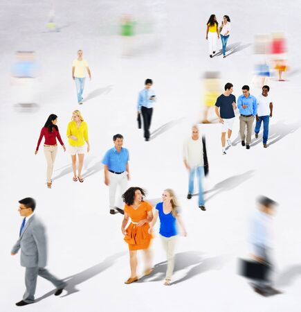 mature business man: Diverse Diversity Ethnic Ethnicity Togetherness Variation Crowd Concept Stock Photo