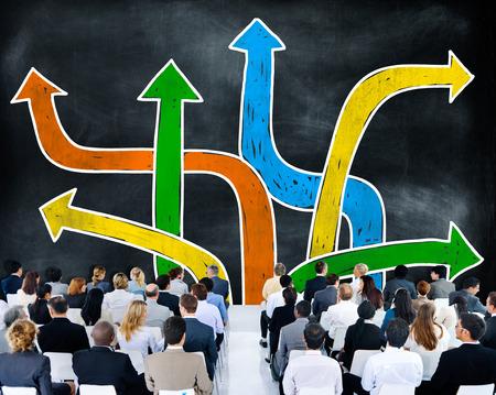decision: Directions Choice Change Change Decision Making Concept