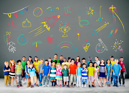 children group: Kids Childhood Leisure Activity Education Concept Stock Photo