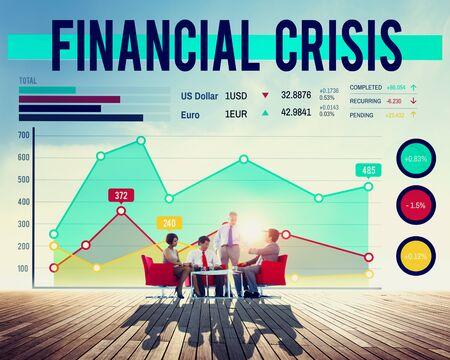 banking crisis: Financial Crisis Risk Banking Money Concept