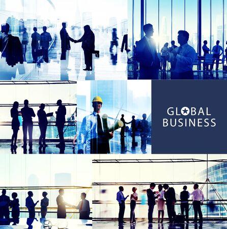 reuniones empresariales: Gente de negocios Corporativa Oficina de Trabajo Paisaje urbano Concepto