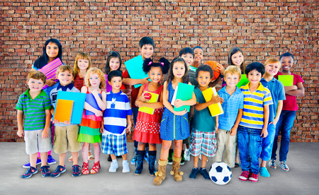 school activities: Multiethnic Children Smiling Happiness Friendship Concept