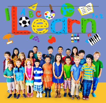 offspring: Learn Learning Study Knowledge School Child Concept Stock Photo