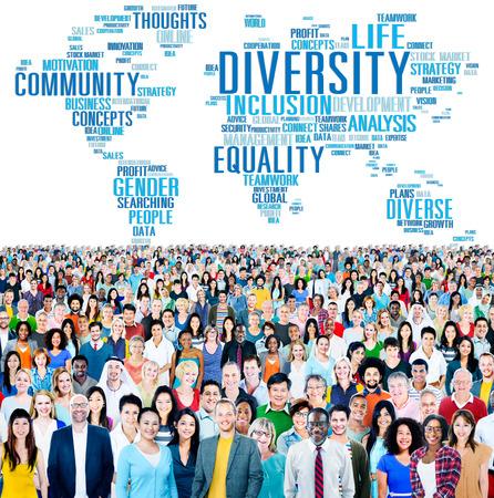 다양성 군중 커뮤니티 비지니스 개념 스톡 콘텐츠