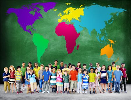 글로벌 세계화 세계지도 환경 Concservation 개념 스톡 콘텐츠