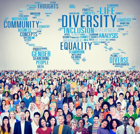 poblacion: Diversidad Multitud Comunidad de Negocios Concepto
