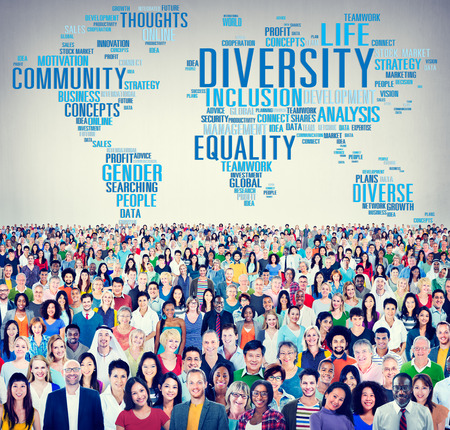 equality: Diversity Crowd Community Business People Concept
