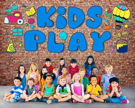 leisure games: Kids Play Imagination Hobbies Leisure Games Concept Stock Photo