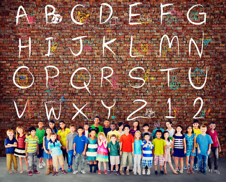 asian ethnicity: English Alphabet Letters Number Education Concept