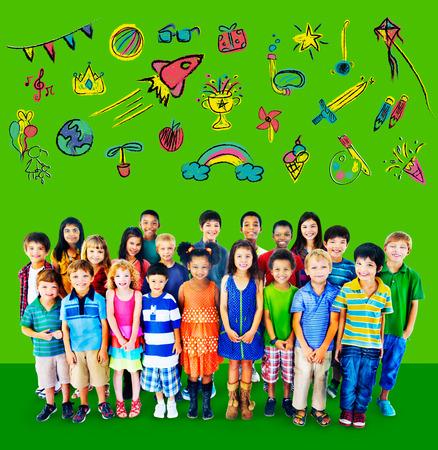 leisure activity: Kids Childhood Leisure Activity Education Concept Stock Photo