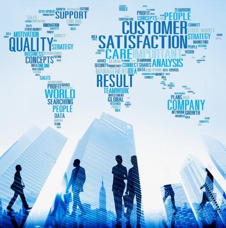 Concepto de Satisfacción al Cliente Servicio Calidad Confiabilidad