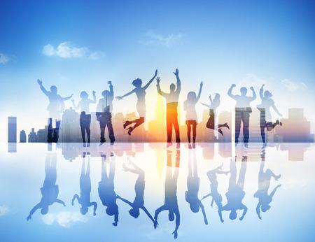 Business People Celebration Team Success Concept photo