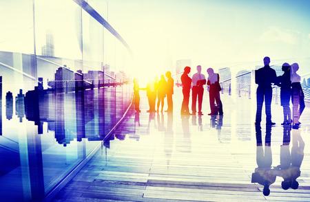 비즈니스 사람들 이야기 연결 대화 개념