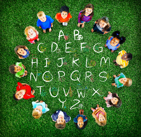 english ethnicity: English Alphabet Letters Number Education Concept