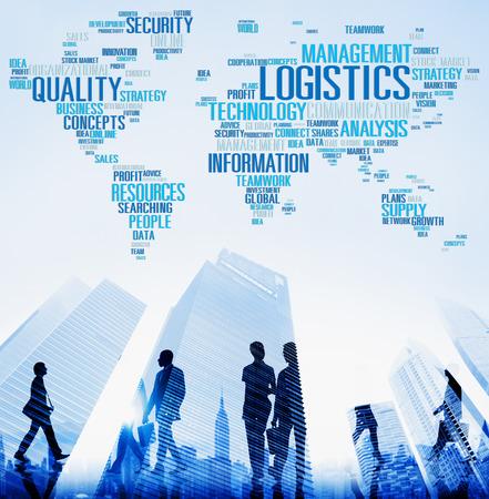 Service logistique Freight Management production Concept Banque d'images - 41215493