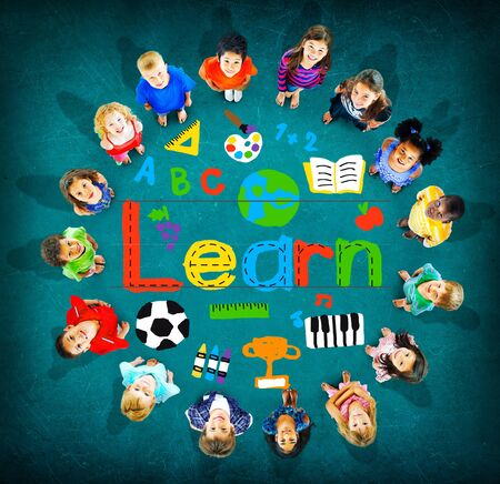 inspiration: Learn Learning Study Knowledge School Child Concept Stock Photo