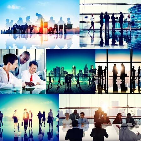 team building: Global Business People Corporate Collection Concept Stock Photo