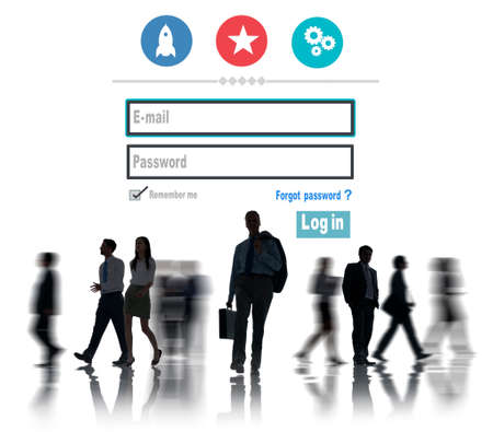 username: Log in Security Username Password Protection Privacy Concept Stock Photo