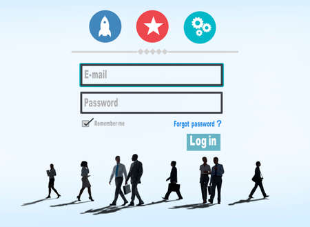 log in: Log in Security Username Password Protection Privacy Concept Stock Photo