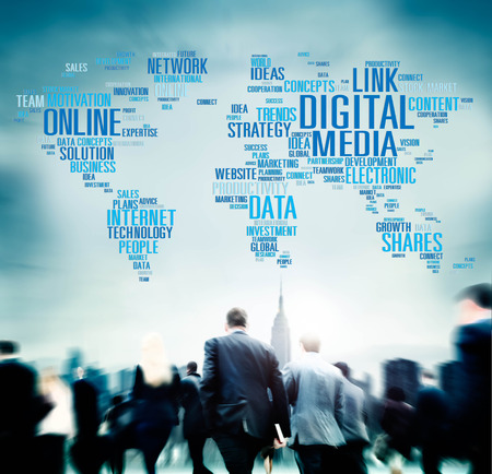 interaccion social: Digital Media Online Redes sociales Comunicación Concepto