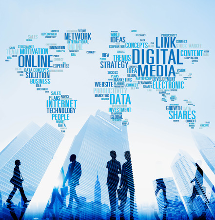 Digital Media Online Social Networking Communication Concept photo