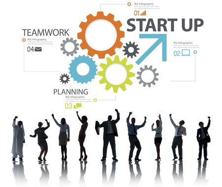 Startup New Business Plan Strategy Teamwork Concept photo