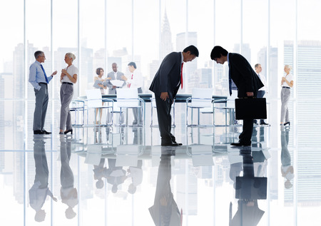비즈니스 기업 사람들 일본 민족 회의 개념 스톡 콘텐츠