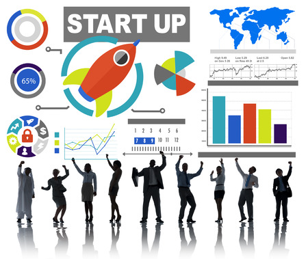 Ethnicity Business People Start up Celebration Goals Success Concept photo