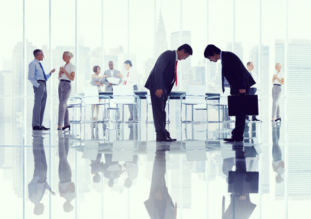 japanese ethnicity: Business Corporate People Japanese Ethnicity Meeting Concept