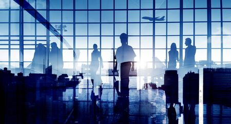 flight mode: Business People Travel Corporate Aiport Passenger Terminal Concept
