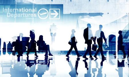 flight mode: Business People Travel Departure Aiport Passenger Terminal Concept