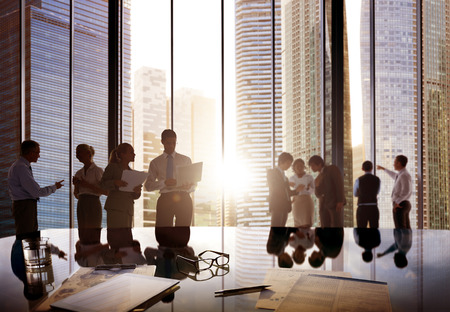 Obchodní lidé mluví konverzace Komunikace Interaction Concept Reklamní fotografie