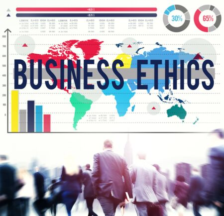 moral: Business Ethics Moral Responsibility Business Concept Stock Photo