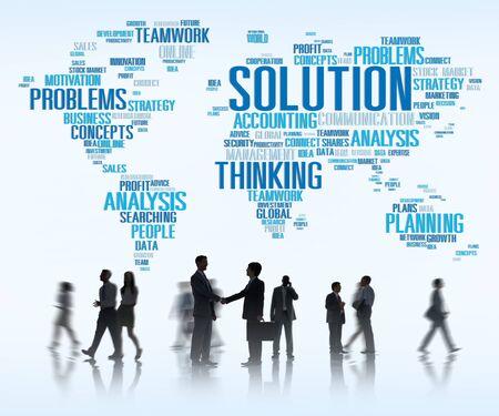 Solution Solve Problem Strategy Vision Decision Concept photo