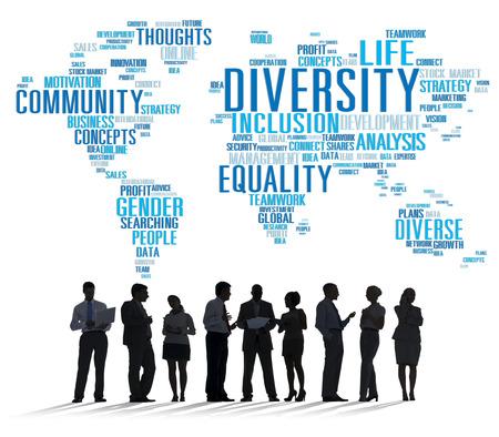 business diversity: Diversity Ethnicity World Global Community Concept