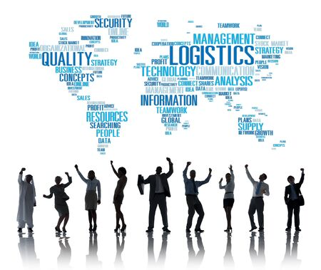 other world: Logistics Management Freight Service Production Concept Stock Photo