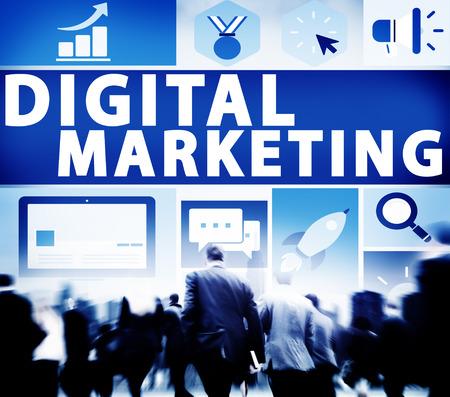 commerce: Digital Marketing Commerce Campaign Promotion Concept